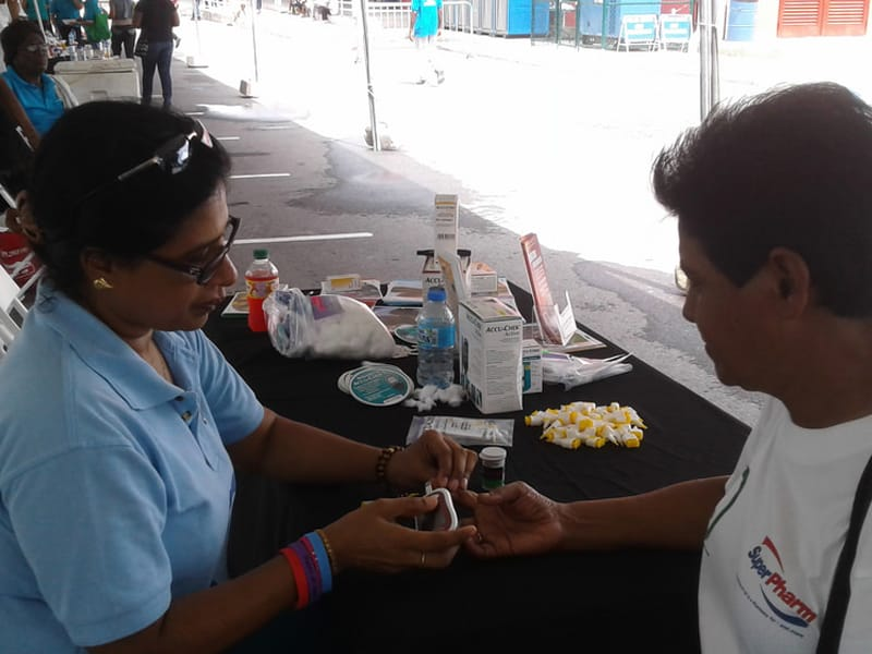 Blood glucose screening in Trinidad & Tobago