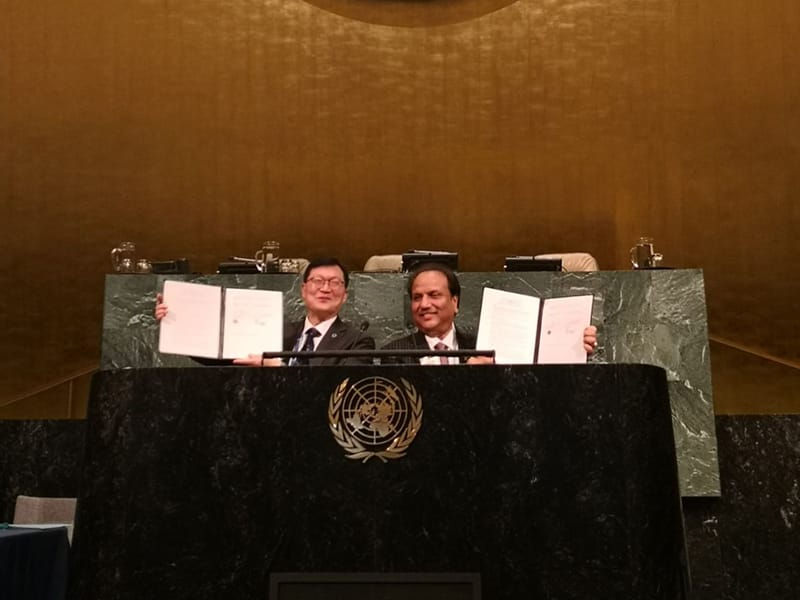 IDF and Lions Club International sign MOU at the United Nations