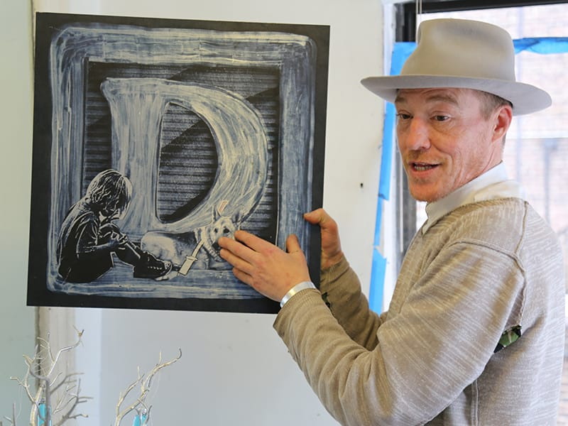 Appleton in his studio