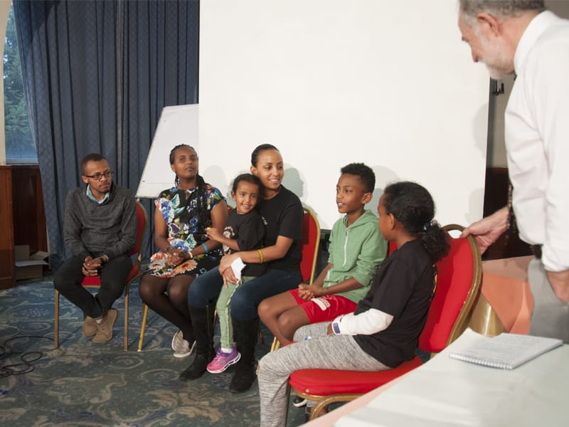 Young people with diabetes at the LFAC workshop in Ethiopia