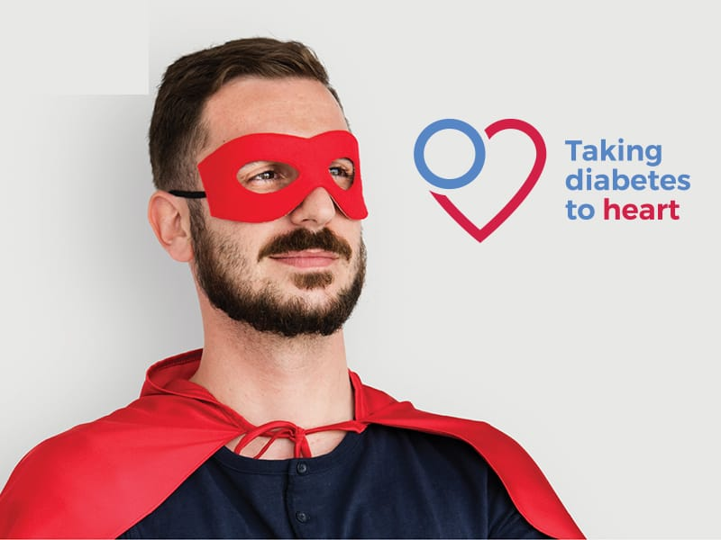Taking Diabetes to Heart promotional visual