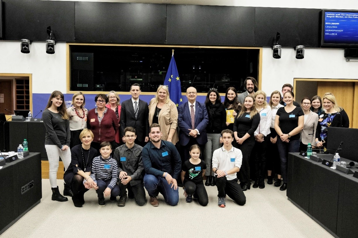 Group picture at European Parliament