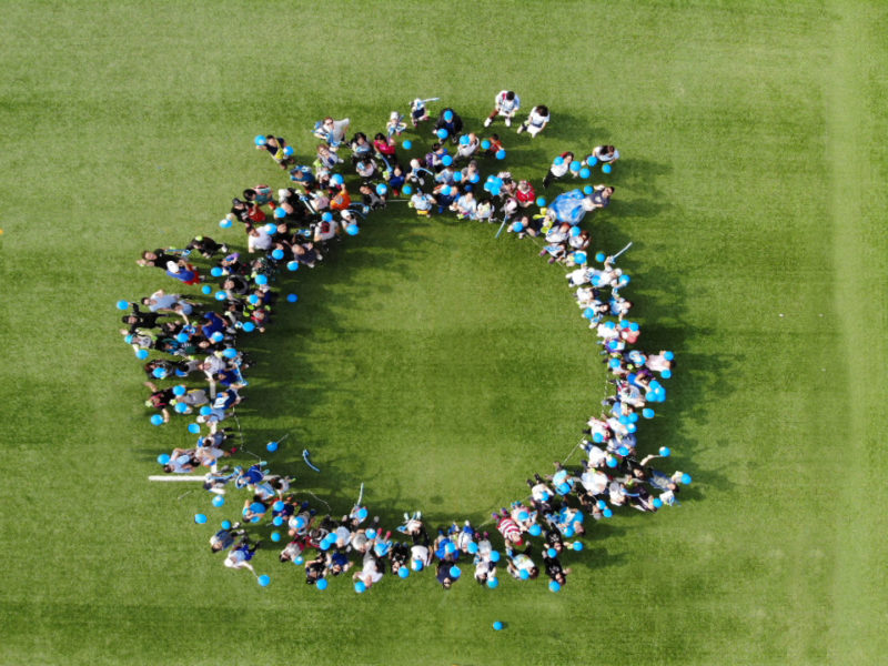 Human blue circle Hong Kong
