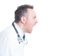 Doctor shouting