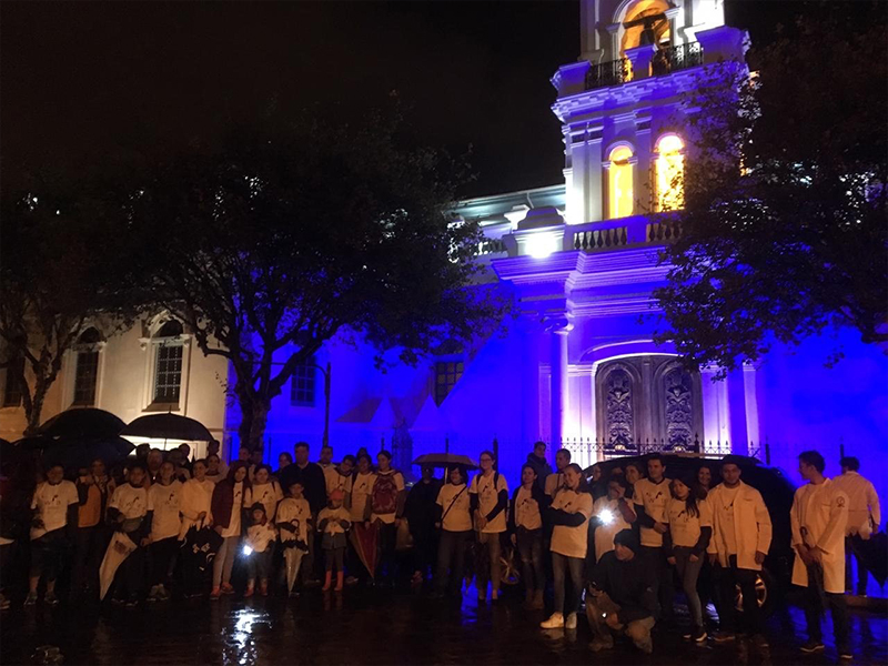 Blue lighting in Argentina