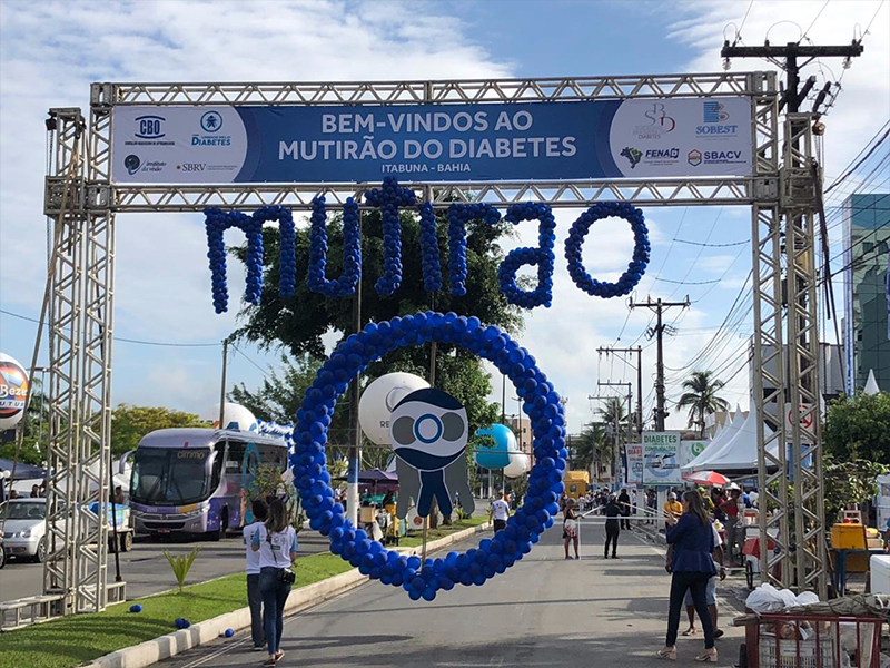 Diabetes awareness fair in Brazil
