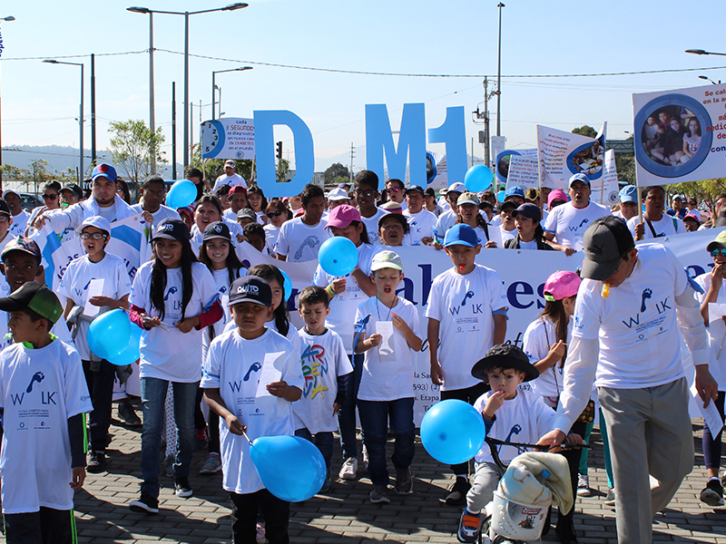 Diabetes awareness walk in Ecuador