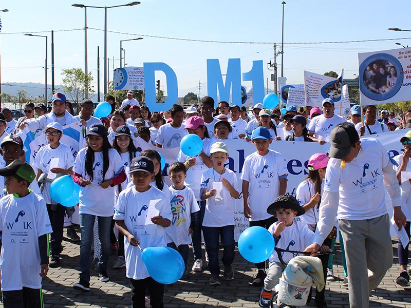 Diabetes awareness walk in Ecuador