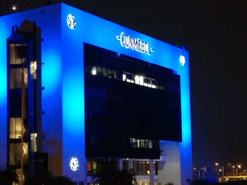 Blue lighting in Paraguay