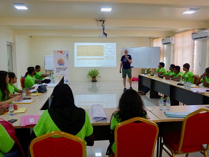 Presentation at Maldives camp