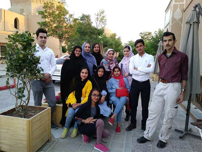 Amir Hosein (far right) after sharing a walk with his friends who also have type 1 diabetes. (Yazd, Iran).