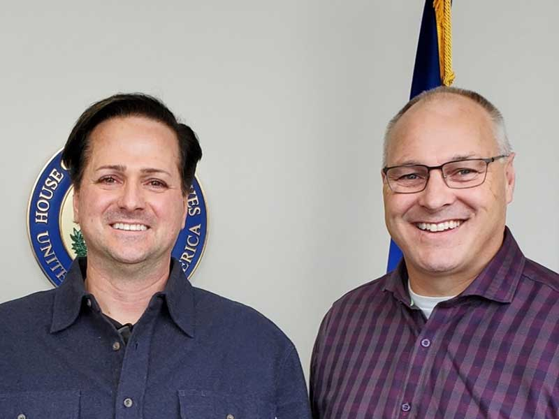 Travis Paulson (left) with Minnesota House Representative Peter Stauber