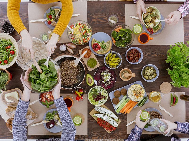 Various vegetarian foods