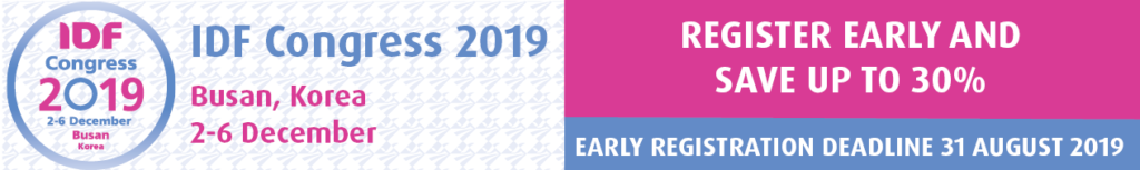 IDF Congress 2019 early registration banner