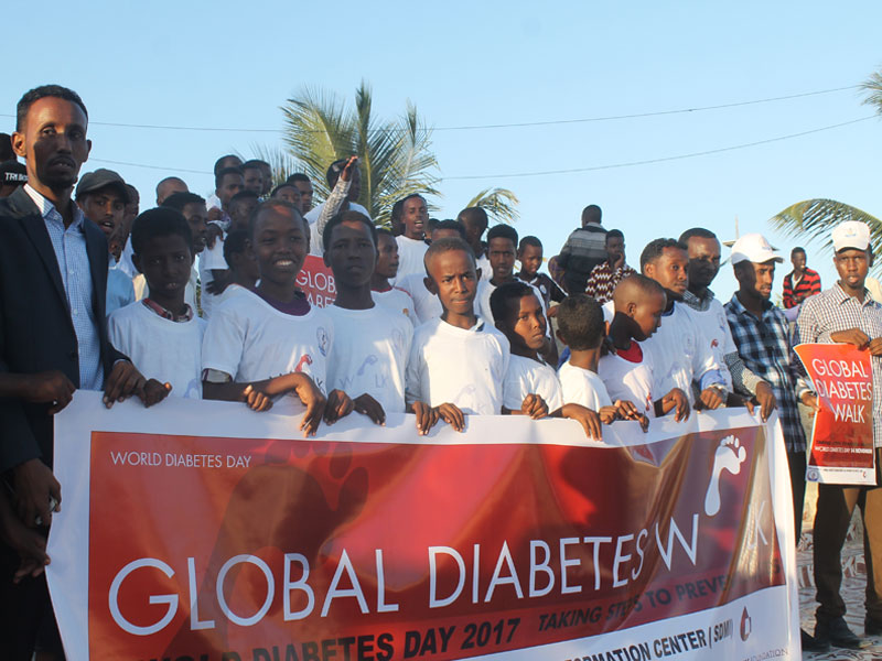 Participants at a Global Diabetes Walk in Somalia